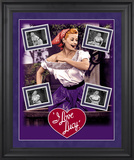 """I Love Lucy """"Grape Stomping"""" framed presentation Framed Memorabilia"""