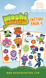 Moshi Monsters Tattoo Packs Temporary Tattoos