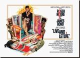 James Bond, vivre et laisser mourir Reproduction transférée sur toile
