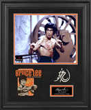 "Bruce Lee ""The Dragon"" limited edition framed presentation with laser-cut logo Framed Memorabilia"