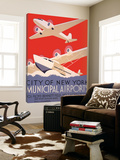 New York Municipal Airports Poster