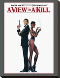 James Bond, A View to Kill Stretched Canvas Print