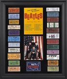 The Beatles 1964 U.S. Tour framed presentation with 23 replica concert tickets Framed Memorabilia