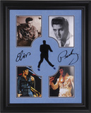Elvis Presley framed photo presentation with laser-cut replica signature Framed Memorabilia