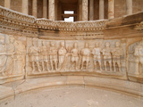 Sculptured Artwork Below the Stage, Theatre, Sabratha Roman Ruins, Libya Photographic Print by Gary Cook