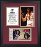 "Elvis Presley ""Aloha From Hawaii"" 35th Anniversary framed presentation Framed Memorabilia"