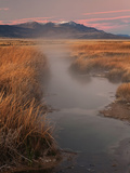 Borax Springs and the Steens Mountains in Southeastern Oregon, USA Photographic Print by David Cobb