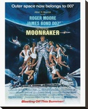 James Bond, Moonraker Stretched Canvas Print