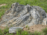 Migmatite Boulder Showing Layers of Igneous and Metamorphic Rock Photographic Print by John Arnaldi