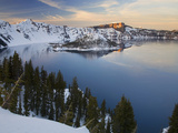 Crater Lake National Park in Winter, Oregon, USA Photographic Print by Sean Bagshaw