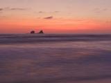 The Sun Sets over the Pacific Ocean Along the Coast of Central Ecuador Photographic Print by Glenn Bartley