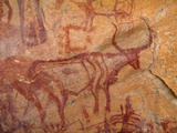 Rock Paintings, Jebel Acacus, Sahara Desert, Libya Photographic Print by Gary Cook