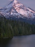 Mt. Hood at Twilight with Lost Lake in the Foreground, Oregon, USA Photographic Print by David Cobb