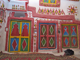 Colourful Cupboard Doors in a Traditional House in Ghadames, Libya Photographic Print by Gary Cook