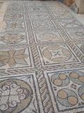 Mosaic at Seaward Baths, Sabratha Roman Ruins, Libya Fotografisk tryk af Gary Cook