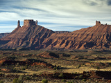 Mesas Eroded from Permian Cutler Formation Sandstones Near Moab, Utah, USA Photographic Print by Ellen Bishop