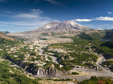Mount St. Helens and the Toutle River, Washington, USA Photographic Print by Ellen Bishop