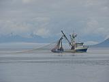 Purse Seiner Fishing Boat, Chatham Strait, Alaska, USA Photographie par Buff & Gerald Corsi
