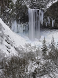 Tamanawas Falls in the Winter, Mt. Hood National Forest, Oregon, USA. Photographic Print by David Cobb