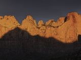 Towers of the Virgin at Sunrise in Zion National Park, Utah, USA Photographic Print by David Cobb