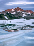 Old Snowy Mountain from Goat Lake in the Goat Rocks Wilderness, Washington, USA Photographic Print by David Cobb