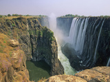 Victoria Falls and Danger Point from Knife Edge on the Zambian Side, Zambia Photographic Print by Gary Cook