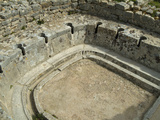 Public Toilet, Dougga Roman Ruins, Tunisia Stampa fotografica di Gary Cook