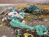 Fishing Nets Discarded and Washed Ashore at Camusnary on the Isle of Skye, Scotland Photographic Print by Ashley Cooper