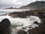 Rocky Coast Near Yachats, Lincoln County, Oregon, USA Photographic Print by Sean Bagshaw