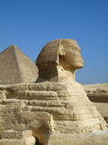 Sphinx and the Great Pyramid of Khufu (Cheops), Giza, Cairo, Egypt Photographic Print by Gary Cook