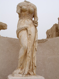 Headless Statue, Seaward Baths, Sabratha Roman Ruins, Libya Photographic Print by Gary Cook