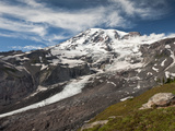Nisqually Glacier Begins on the Southeast Side of Mount Rainier, Washington, USA Photographic Print by Ellen Bishop