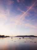 Sailing Boats on Lake Windermere in the Lake District, UK at Dawn Photographic Print by Ashley Cooper