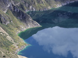 Lake in Quilotoa Crater or Caldera, Ecuador Photographic Print by Gary Cook