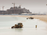 Workers Creating a New Beach Resort in Dubai Photographic Print by Ashley Cooper