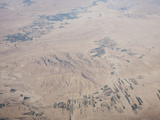Flying over Iran Showing the Geology and Irrigated Fields Photographic Print by Ashley Cooper
