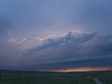 Intracloud Lightning at Sunset from a Thunderstorm in Central Nebraska, USA Photographic Print by Charles Doswell