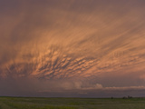 Mammatus Clouds Illuminated by Sunset Light in Central South Dakota, USA Photographic Print by Charles Doswell