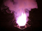 Reaction of Potassium Chlorate and Icing or Powdered Sugar Papier Photo par Philip Evans