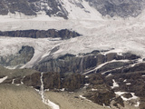Melting Glaciers on the North Wall of the Matterhorn Above Zermatt, Switzerland Photographic Print by Ashley Cooper