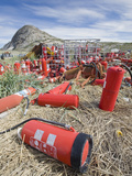 Halon Gas Cylinders Abandoned on a Tip at Kangerlussuag, Greenland Photographic Print by Ashley Cooper