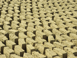 Mud Bricks Drying in the Sun, Mali Fotografisk tryk af Gary Cook