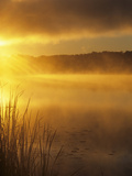 Dawn over a Misty Lake Photographic Print by Wally Eberhart
