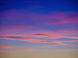 Wispy Pink Clouds at Sunset Photographic Print by Ashley Cooper