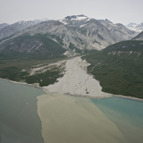 Glacial Alluvial Fan and Glacial Silt Runoff, Glacier Bay National Park, Alaska, USA Fotografiskt tryck av Gerald & Buff Corsi