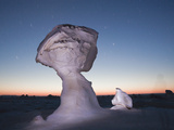 Cone Formations of Limestone in White Desert National Park, Libyan Desert, Egypt Photographic Print by Reinhard Dirscherl