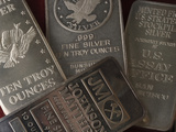 10 Ounce Silver Bars Photographic Print by Jeff Daly