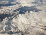 Aerial Image of Snow Covered Mountains in Iran Photographic Print by Ashley Cooper