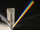 Diffraction of Sunlight Through Prism Showing Light Spectrum Photographic Print by Jeff Daly