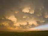 Sunset Light on Mammatus Cloud Formations in Northwestern Nebraska Photographic Print by Charles Doswell